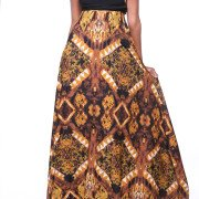 Brown Tribal Multi-Way Maxi Dress (By MJVO Couture)