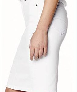 White Yoga Jean Skirt (by Second Denim)