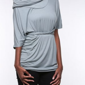 Cowlneck Blouse with Tie (by Miilla)