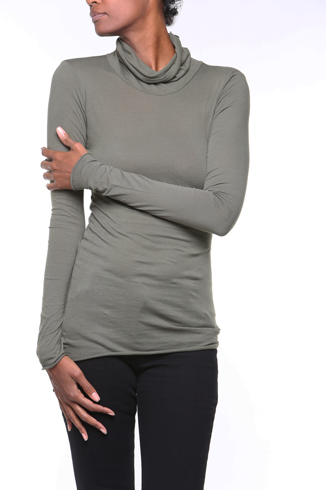 Organic Cotton Turtleneck (by Stewart & Brown)