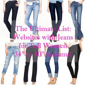 Pretty Tall Style Ultimate List of Jeans for Tall Women
